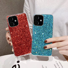 Glitter Bling Phone Cases For iPhone 11 Pro 2019 Case Luxury Crystal Soft TPU Case For iPhone 11 Pro Max Case Back Cover EEMIA(China)