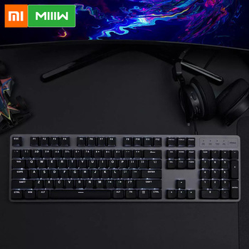 Xiaomi MIIIW 600K Mechanical Keyboard Gaming Keyboard Backlit 104Key Kailh Red Switch USB Wired Keyboard Mouse & Pad Set 1
