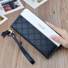 2020 New Luxury Leather Wallet Women Card Holder Zipper Phon