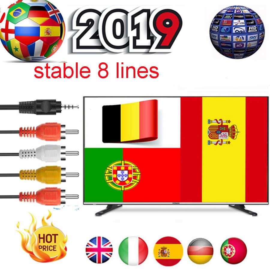 Satxtrem HD serveur lignes Europa Cccam espa allemagne Portugal espagne gratuit 1/2 année 8 lignes décodeur récepteur Satelite TV récepteur