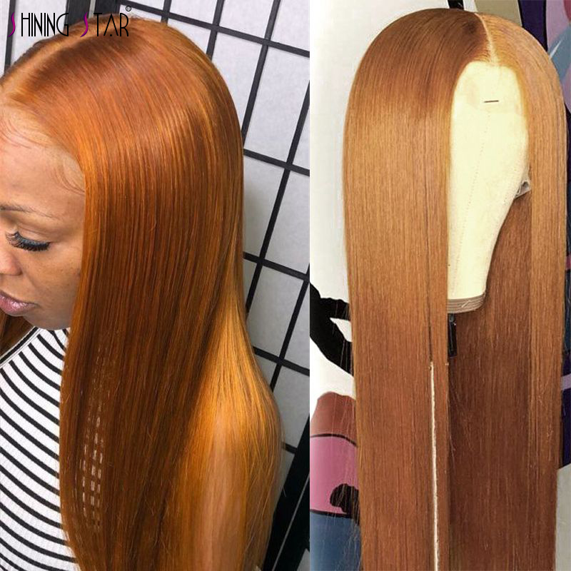 Peruvian Hair Ombre Honey Blond Lace Front Wig 13x4 Lace Front Human Hair Wigs 30 Color Wigs 150% Shining Star Remy Pre Plucked