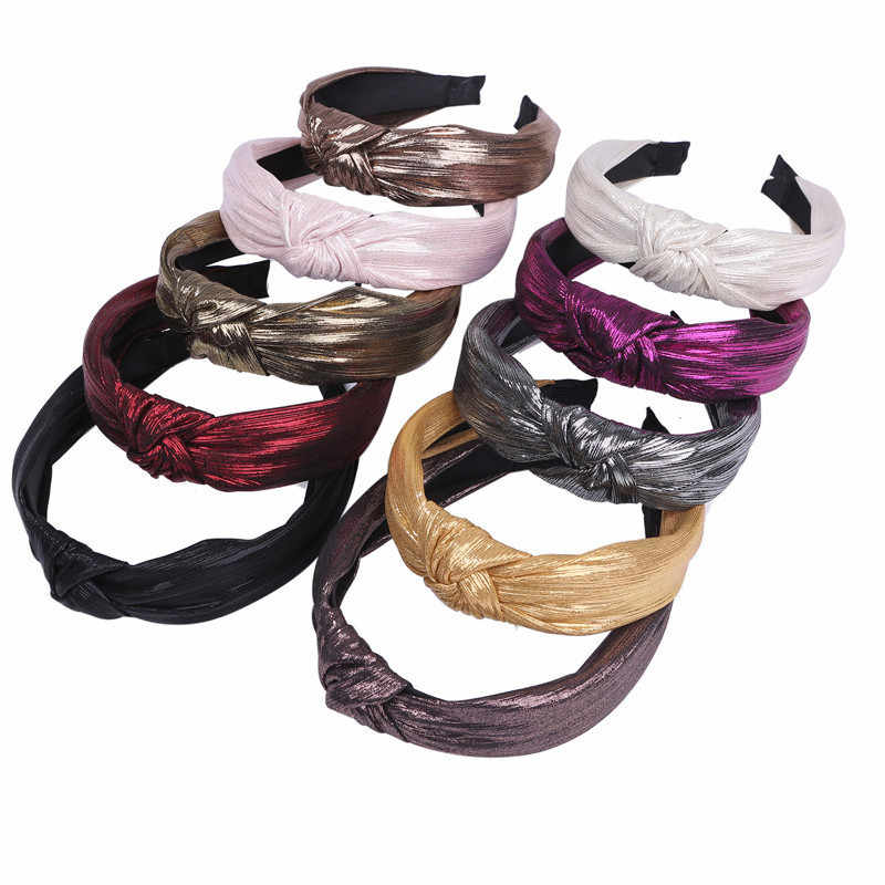Cross Knot Women's Headband Hair Accessories Solid Fabric Hairband Head Wrap Hair Band Ornament Band Hoop Sweet Girls Turban