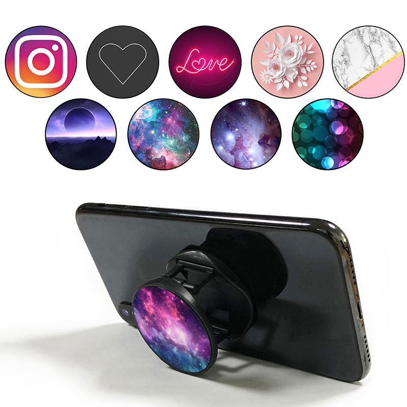 Popping New Product Phone Socket Round Mobile Phone Holder Easy Grip Finger Ring Stand Pocket Socket For Smartphones And Tablets
