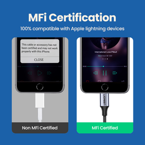 Image 5 - Адаптер Ugreen MFi с Lightning на 3,5 мм для наушников iPhone 12 11 Pro 8 7 Aux 3,5 мм