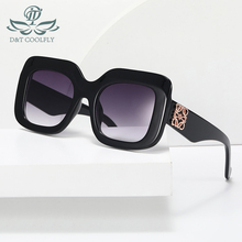 Square Sunglasses Shield Logo-Frame Color-Lens Women Fashion Brand Designer PC D--T Cool