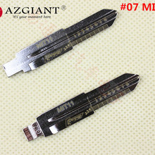 07# Engraved Line Key MIT11 for Mitsubishi car key embryo Lishi 2-in-1 scale shear teeth blank key blade