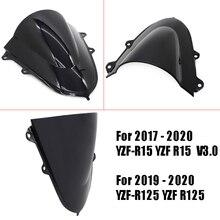 Windscreen-Visor R15 YZF-R125 YAMAHA Double-Bubble-Windshield Viser for Black V3.0