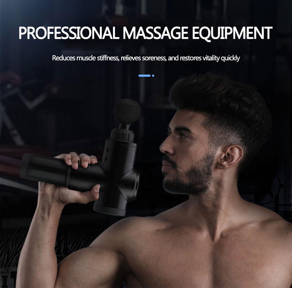 LCD Massage Gun | Deep Tissue Percussion Handheld Sports Drill Quiet Brushless Motor Cordless