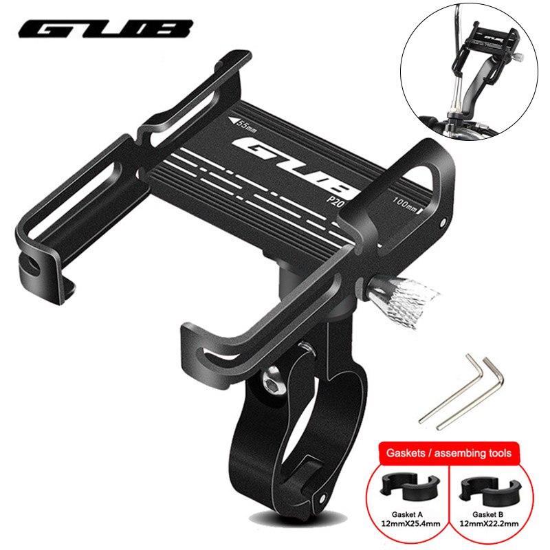 "Aluminum Rotatable Bike Phone Holder Universal Motorcycle Bicycle Phone Mount Holder 3.5"" to 7.5"" Smartphones GPS Handlebar Clip"