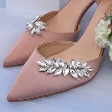 X31 2pcs Fashion Shoe Clip Wedding Shoe Buckle Party Women High Heel Shoe Decoration Crystal Wedding Shoe Buckle Bride Shoe Clip
