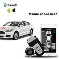 Handy keyless entry system PKE Auto alarm autostart Zentralverriegelung mit Fernbedienung Starten und Alarm stil start stop taste