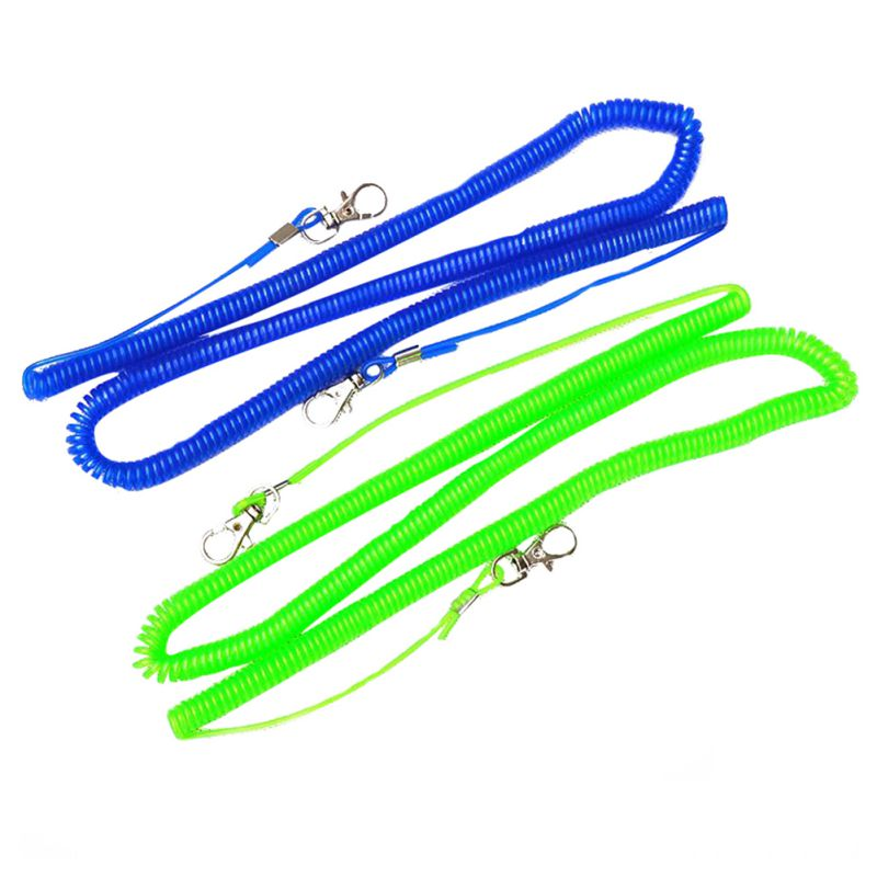 5 Meters Fishing Retention Rope Lanyard Portable Retractable Anti-Lost Accessories With Hooks