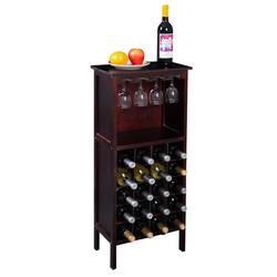 Высокое качество Бургундский крепкий из массива сосны винный шкаф для бутылок 20 бутылок стеклянные вешалки барный шкаф HW51149