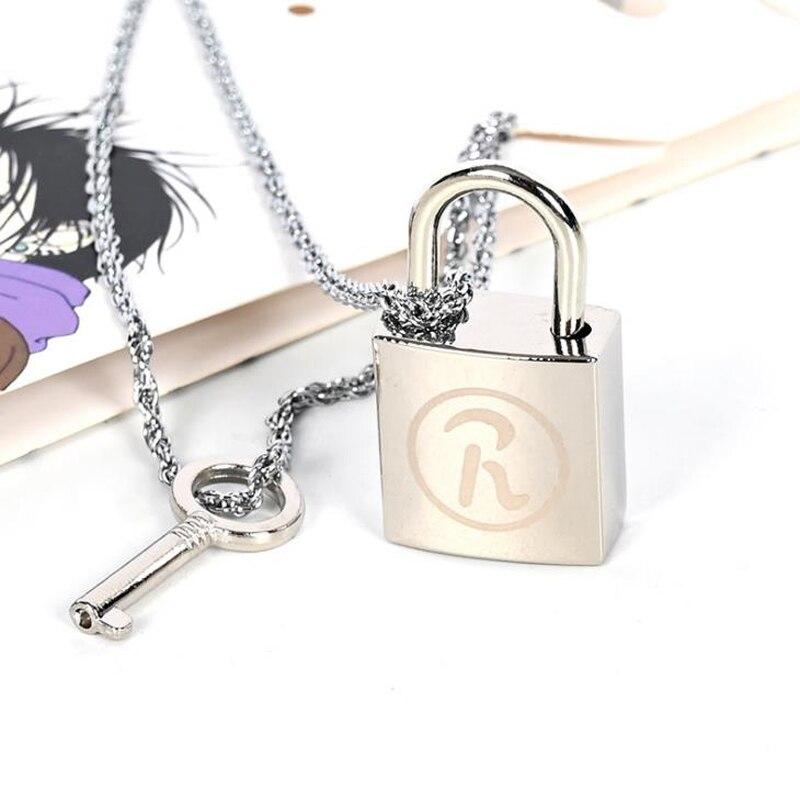 2 unids/set Anime nuevo Ai Yazawa NANA amante llave y cerradura de aleación de Metal de moda colgante collares Cosplay accesorios figura Juguetes