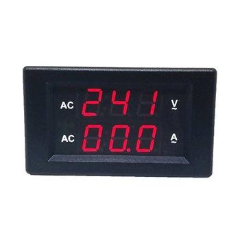 10A AC cyfrowy woltomierz z podwójnym wyświetlaczem LED amperomierz Amp Volt miernik napięcia prądu Tester wysokiej precyzji tanie i dobre opinie ACEHE CN (pochodzenie) Elektryczne AC 100 - 300V AC 0 - 10A Cyfrowy tylko 70x40x30mm 2 73x1 56x1 17in Digital Voltmeter Ammeter