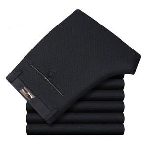 Image 3 - กางเกงทำงานชายชุดด้านล่างชุดลำลองตรงธุรกิจคลาสสิกกางเกงอย่างเป็นทางการขนาดใหญ่กางเกงชายสูงเอวกางเกง