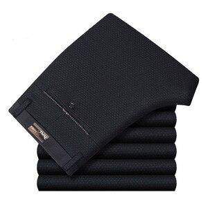 Image 3 - Pantalon décontracté, de coupe droite et grande taille pour homme, tenue formelle et classique de travail, de bureau, de taille haute