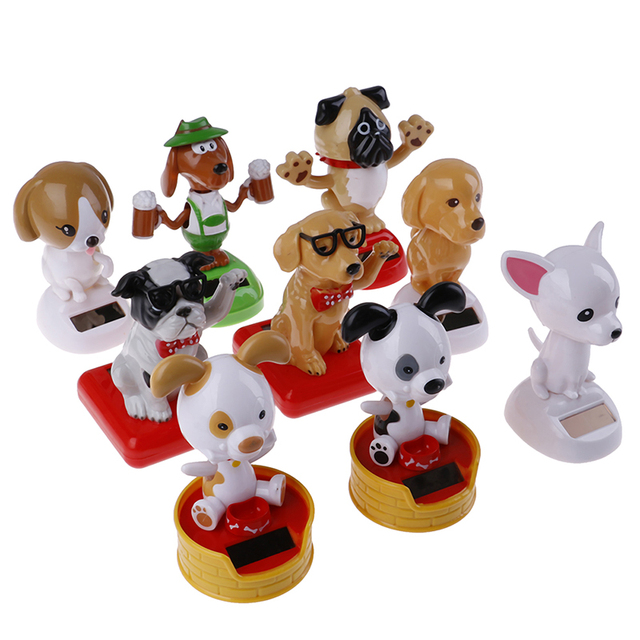 For Pet Fans New Arrivals Travel Accessories Auto Magic Solar Powered Car Decoration Dancing Dogs Toy  My Pet World Store