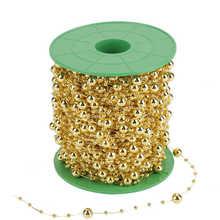 3mm + 8mm DIY Wedding Decor pasek z koralikami perłowy pasek z koralikami drut koraliki ciąg na wyroby dekoracyjne DIY tanie tanio CN (pochodzenie)