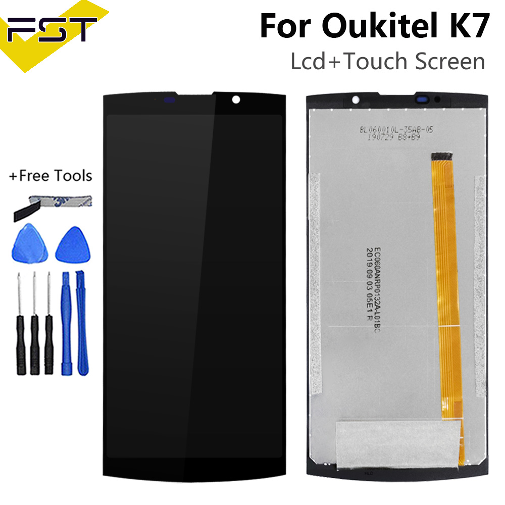 "6.0"" For Oukitel K7 LCD Display+Touch Screen Digitizer Assembly Phone Replacement Parts For Oukitel K7 + Free Tools"