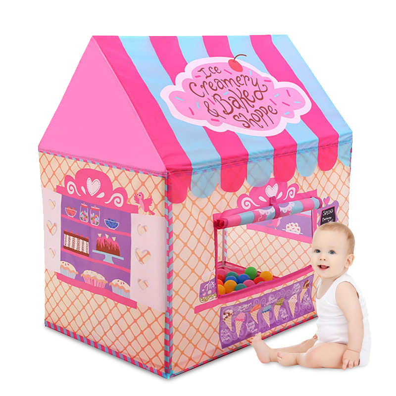 YARD Pink Kids Toys Tents Elegant Kids Play Tent Baby Boy Girl Princess Castle Outdoors House Children Play Ball Pool Tents