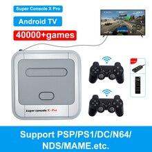 Super Console X Pro Video Game Console Pre install 40000 Games 4K HDMI Compatible Output 128G Mini Retro Portable Game Player