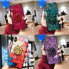 For 5A 5X 6X 8SE Cover DIY Bling Holder Stand Phone Case For Xiaomi 9 9SE CC9 MIX4 8SE 5SPlus MIX2 CZ diamond Glitter Cover(China)