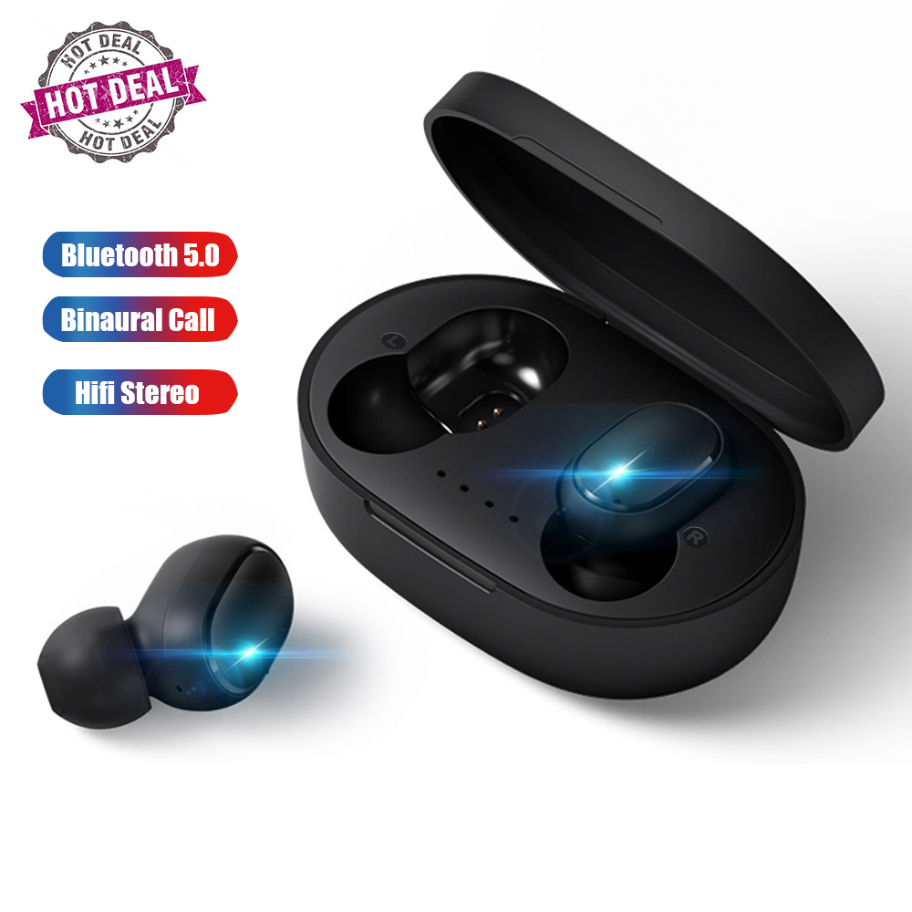 Wireless Earphone For Xiaomi Redmi Earbuds Bluetooth 5.0 TWS Headsets Noise Cancelling Mic for iPhone Huawei Samsung A6S image