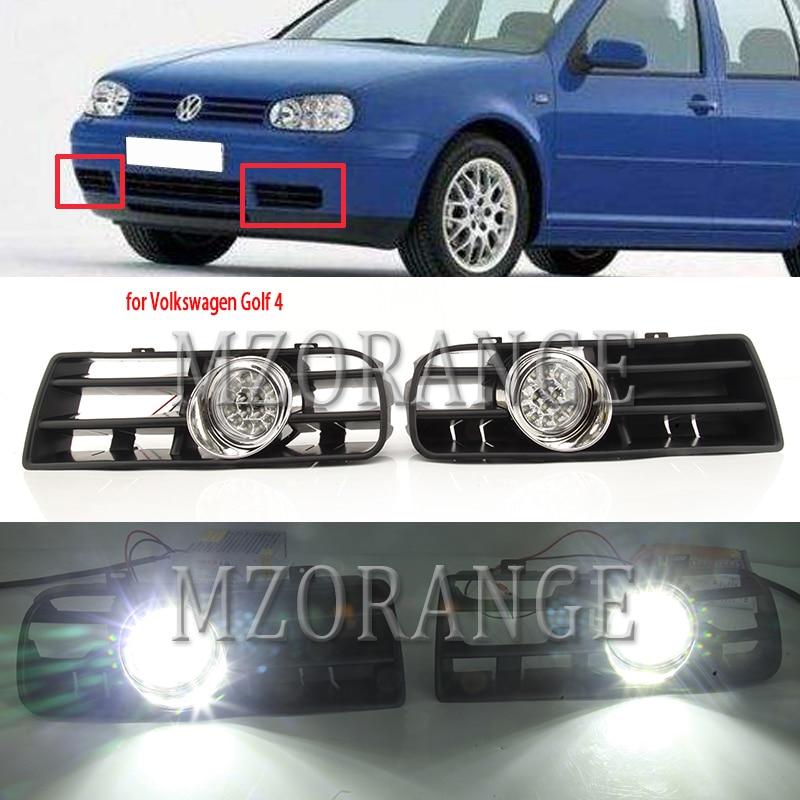 For Golf 4 Lights For Golf MK4 Headlight Led Fog Lights For Volkswagen 1997-2006 Fog Lamp Foglights Led DRL Fog Light Headlights
