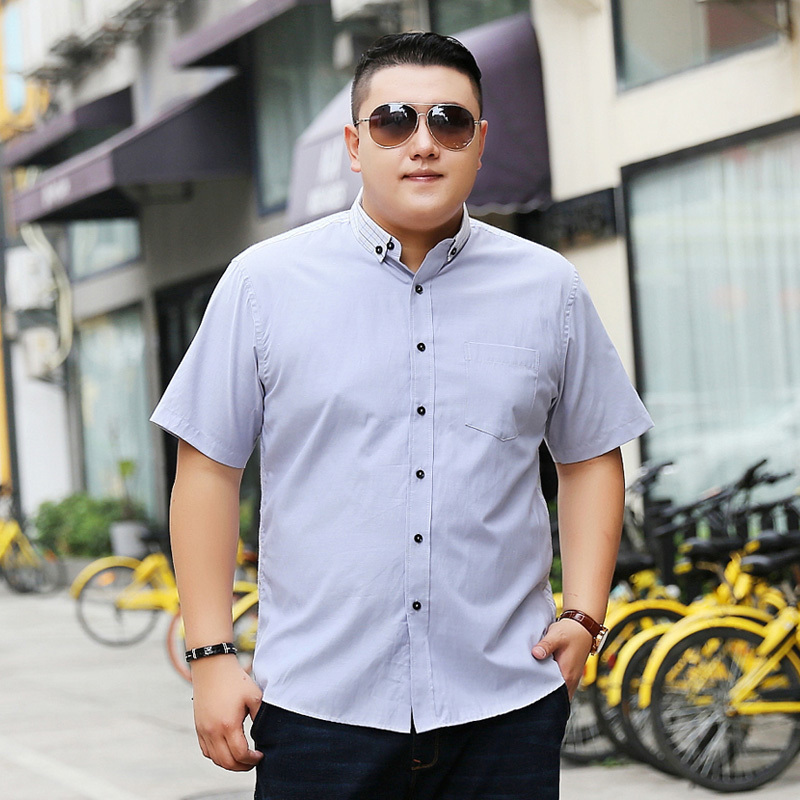 New Plus Size 9XL 8XL 7XL 6XL 5XL Fashion Mens Summer Brand Palace Lapel Short Sleeves Casual Shirt Camisa Social Masculina