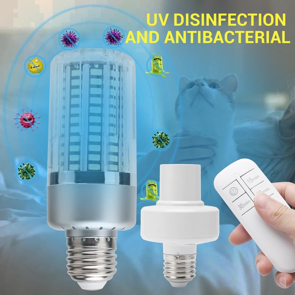 UV Germicidal Lamp E27 Led UVC Corn Bulb Disinfection Sterilizer Ozone Free LED Lights Home Clean Air Kill Bacteria Mites Indoor