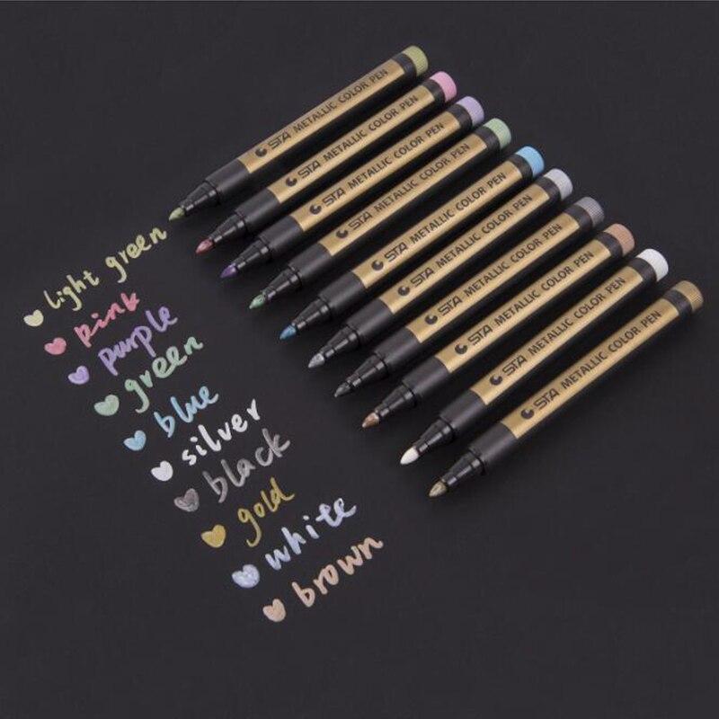1 шт. цветные маркеры водонепроницаемые перманентные металлические маркеры для белой бумажной доски крафт-бумага фотоальбомы Diy украшения