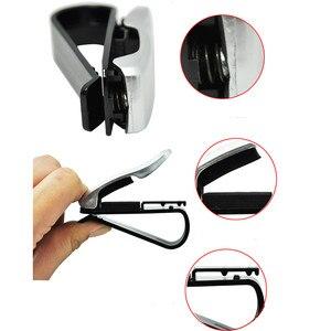 Image 4 - Gläser Halter Auto Zubehör Sonnenbrille Halter ABS Auto Verschluss Sonnenblende Gläser Fall Ticket Clip Karte Halter Halterung