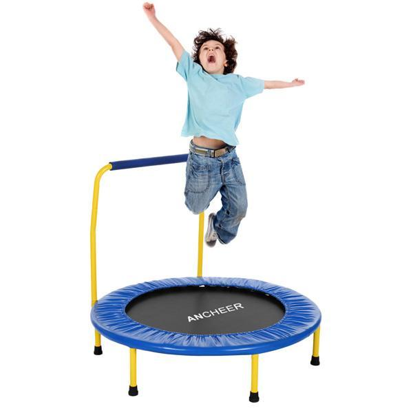 Jumping Trampolines Muted Fitness Trampoline  With Adjustable Handrail For Indoor Jump Sports Adults Trampoline For Children Kid