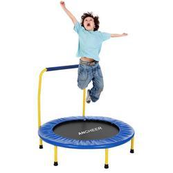 Trampolín para saltar con trampolín de Fitness mutado con pasamanos ajustables para deportes de salto de interior adultos trampolín para chico