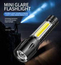 Torche électrique en alliage d'aluminium LED Rechargeable par USB Mini télescopique Zoom 511