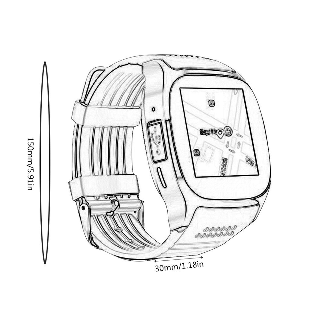 t8 bluetooth smart watch support sim tf card with camera