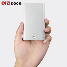 Cizicoco 2019 New Business Card Holder Automatic Pop Up Case Antitheft Credit Blocking Rfid Wallet Metal Purse