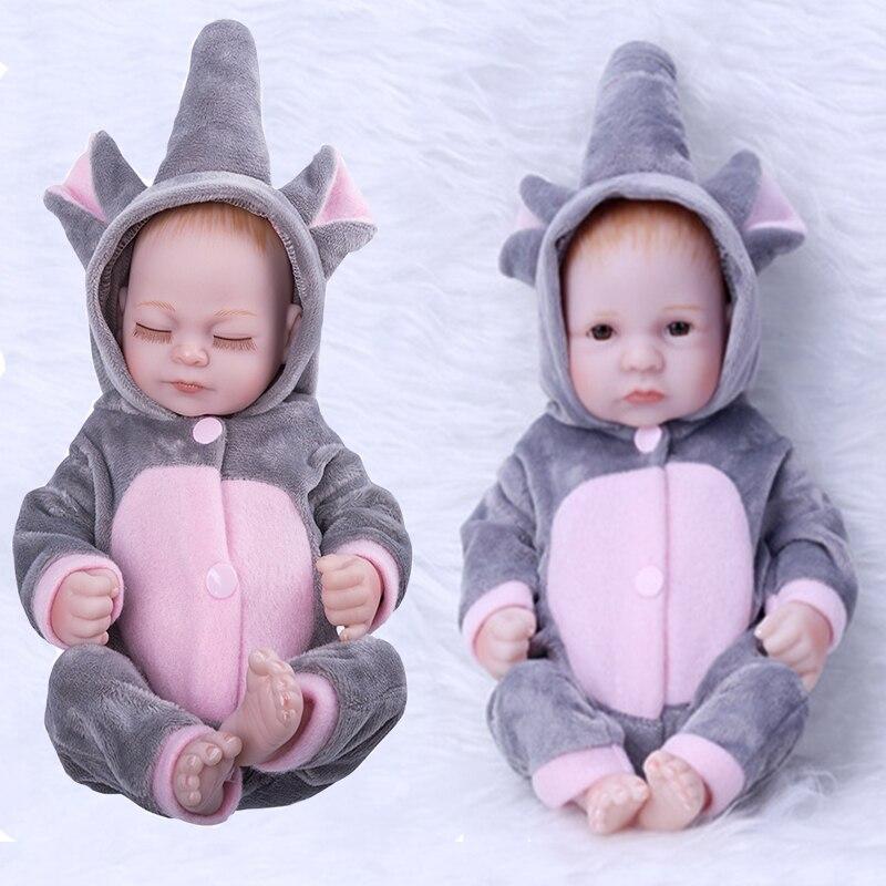 28CM Elefant Reborn Baby Puppe Volle Silikon Bad Spielen Bebe Puppe Keine Funktion Lebensechte Echt Reborn Bebe Spielzeug Geschenke für Kinder
