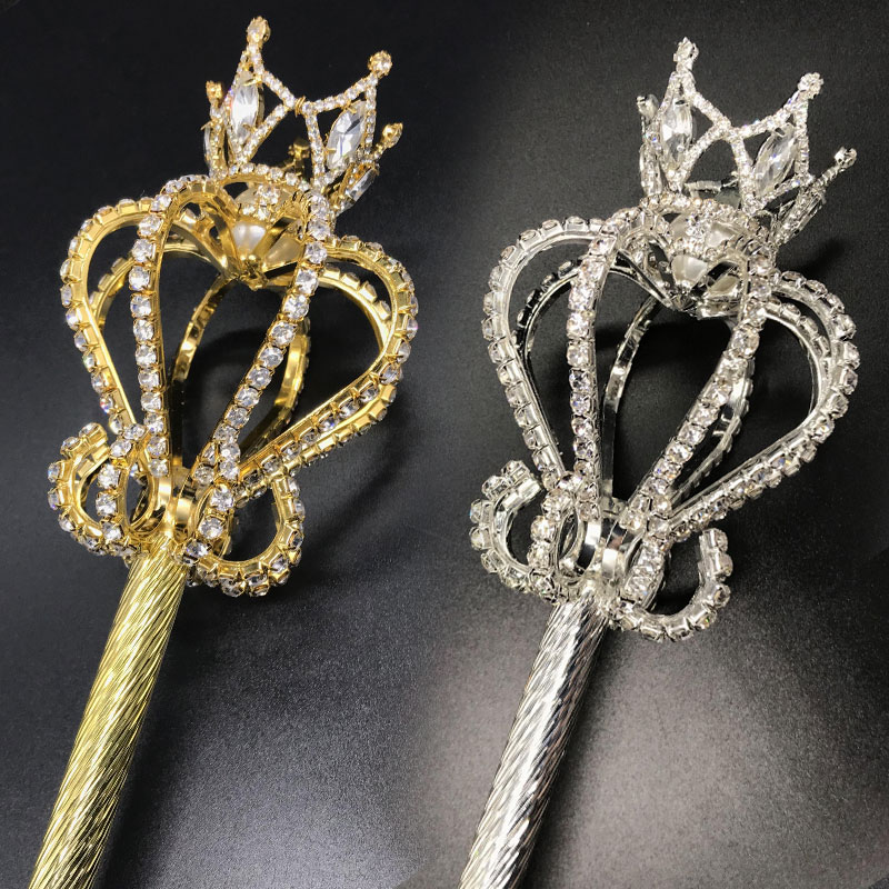 FORSEVEN, Золотой/Серебряный цвет, королева, скептик, прочный, бесшовная палочка, Свадебный скептик для невесты, для женщин, королева, вечерние, к...