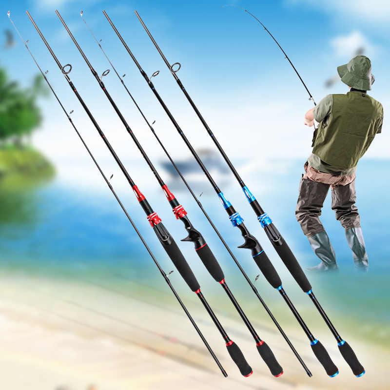 المحمولة سبين الصيد قضيب الكربون الألياف إغراء تدور قصبة صيد خشبية ل المياه المالحة المياه العذبة البحر KH889