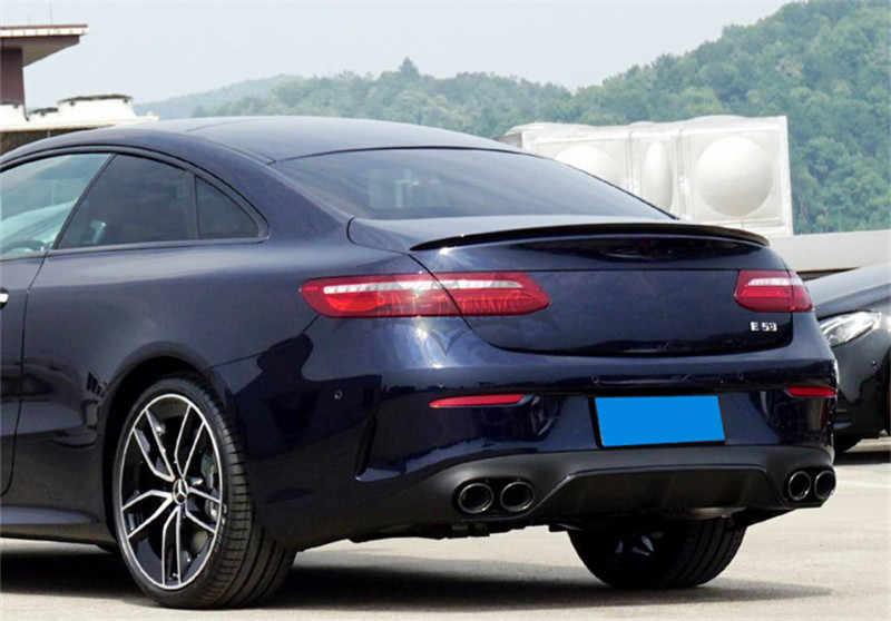 C238 ดู E53 AMG สไตล์ ABS ด้านหลังกันชน Diffuser สำหรับ Mercedes W238 E Class E200 E400 2DR Coupe 2017-2019 สีดำเคล็ดลับท่อไอเสีย