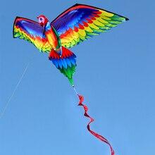 3D воздушный змей-Чайка с хвостом воздушные змеи для взрослых детей открытый пляжный парк Кемпинг Летающий воздушный змей 100 м