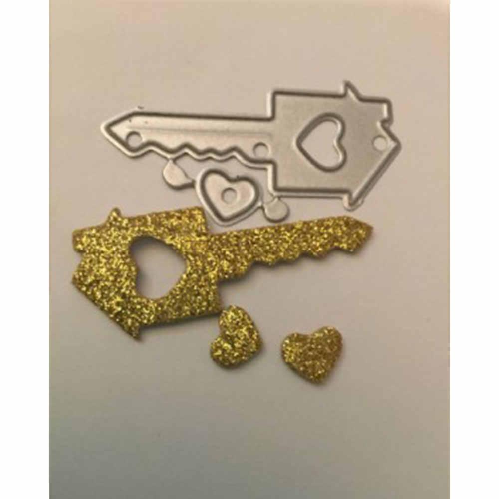 الحرفية المعادن قطع يموت قطع يموت العفن الحب مفتاح الديكور قصاصات ورقية كرافت سكين العفن شفرة لكمة الإستنسل يموت