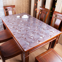 PVC Tablecloth Cover Dining-Table Kitchen Waterproof Glass D'