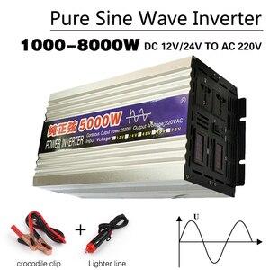 Pure Sine Wave inverter DC12V 24V to AC220V 3000W 2200W 1600W solar inverter power Converter For Car Voltage transforme Inverter
