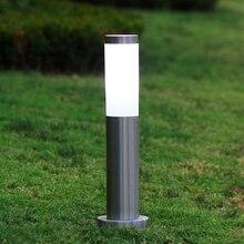 IP65 Водонепроницаемый светодиодный наружная газонная лампа 110 В 220 В из нержавеющей стали садовые светильники освещение для внутреннего двора Ландшафтная лампа с E27 базой