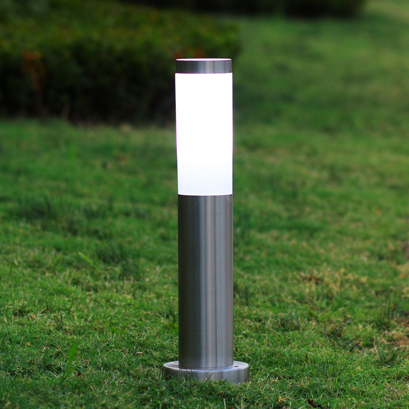 IP65 Waterproof LED Outdoor Lawn Lamp 110V 220V Stainless steel Garden lights Courtyard Lights Landscape Lamp With E27 Base