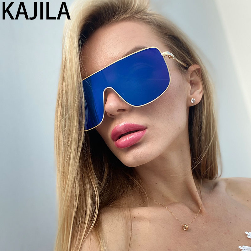 Square Oversized Sunglasses Women 2020 Luxury Brand UV400 High Quality One-piece Men Sun Glasses For Women Zonnebril Dames