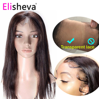 Straight wig transparent lace front human hair wigs 13x4 brazilian remy 150 density natural pre plucked bleached knots glueless